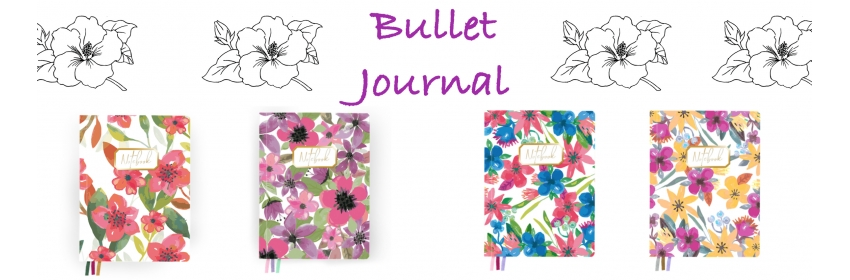Cuadernos Bullet Journal Flores