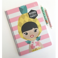 "Cuaderno ""Born to be Sweet"" A4 de Lil'ledy"