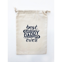 "Saco de tela ""Best Daddy Ever"""