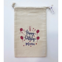 "Saco de tela ""Happy Birthday"" Personalizable"