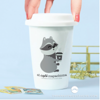 "Vaso Take Away ""El Café Mapachiona"""